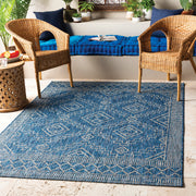 Eagean Outdoor Rug in Denim