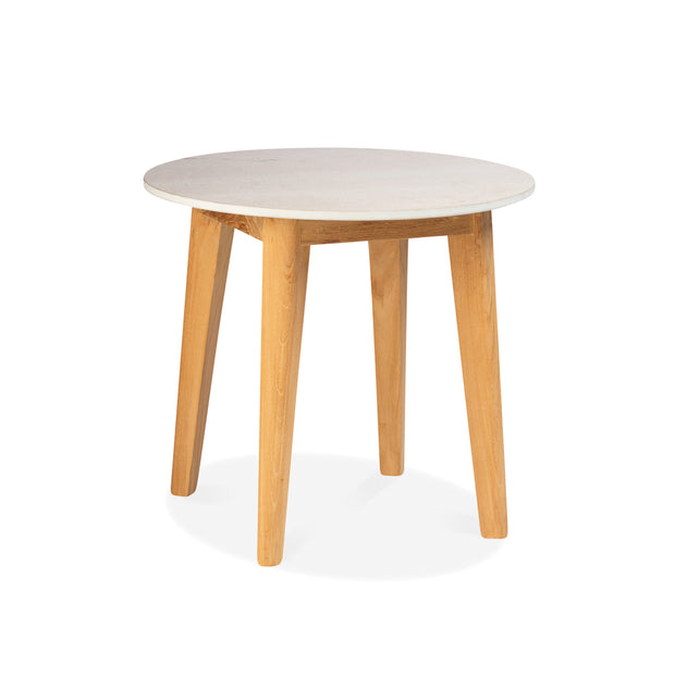 Essential Teak Side Table with Ceramic Top