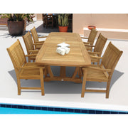 7 Piece Compass Dining Set