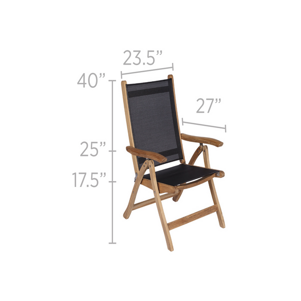 Florida Reclining Teak Dining Chair