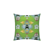 Spring Bee Sunbrella Throw Pillow