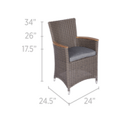 Helena Wicker Dining Chair