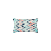 Gradient Fan Poolside Sunbrella Throw Pillow