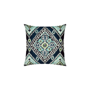Ikat Diamond Peacock Sunbrella Throw Pillow