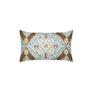 Ikat Diamond Caramel Sunbrella Throw Pillow