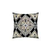 Ikat Diamond Onyx Sunbrella Throw Pillow
