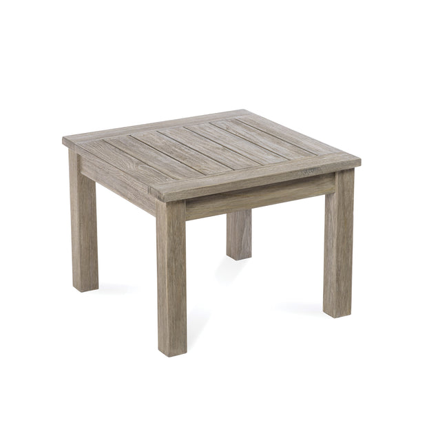 Lakewood Reclaimed Teak Side Table in Grey
