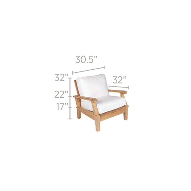 Miami Teak Reclining Chair