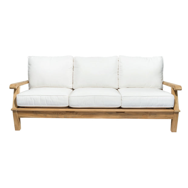 Miami Teak Reclining Sofa with Sunbrella Cushions