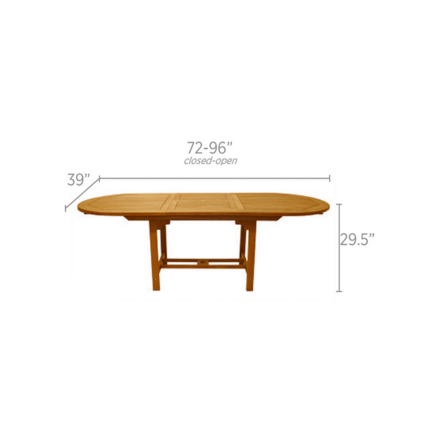 Family Oval Extension Dining Table