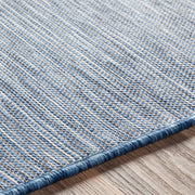 Pasadena Outdoor Rug in Heathered Blue