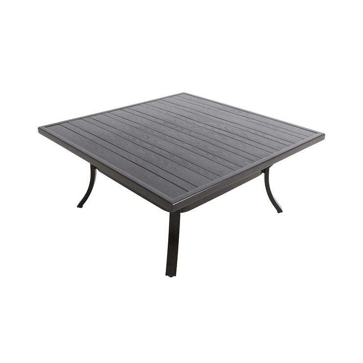 Embossed Wood Grain Slat Coffee Table