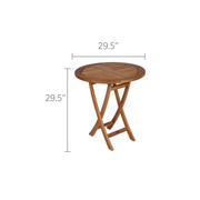 Sailor Teak Round Folding Table