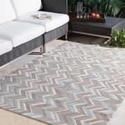 Santa Cruz Outdoor Rug in Patterned Khaki