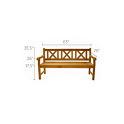 Skipper 3-Seater Teak Bench