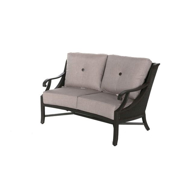Somerset Aluminum Curved Loveseat