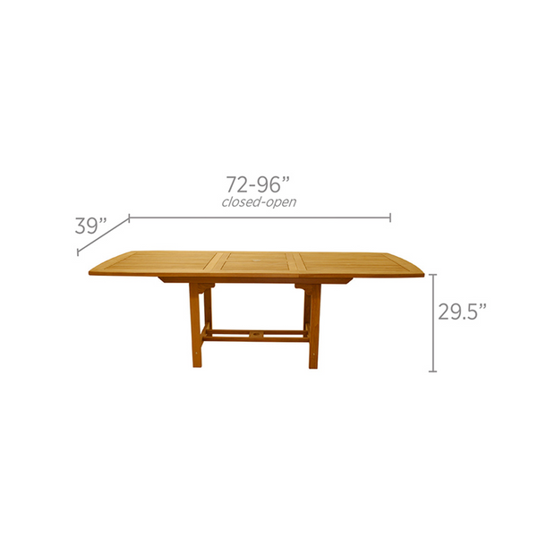 Family Rectangle Extension Dining Table