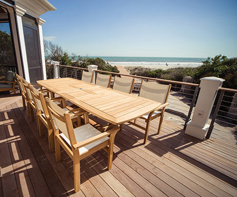 9 Piece Deluxe Teak Dining Set with Dining Chair