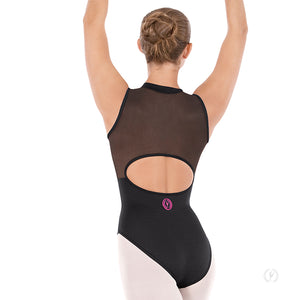 Adult Eurotard Zipper Leotard with Mesh Back