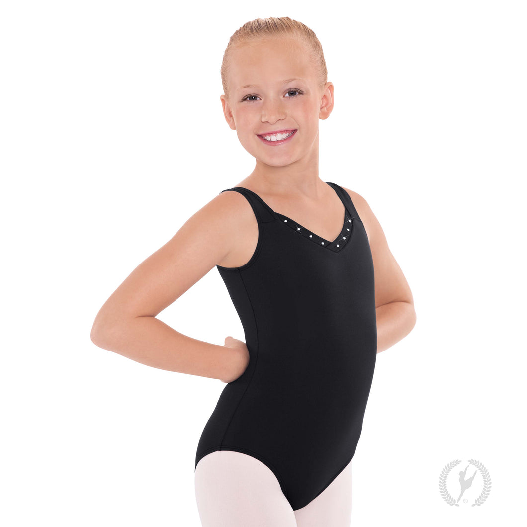 Eurotard Girls Crystal Detail Tank Leotard