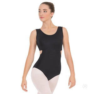 Stripped Satin Tank Leotard