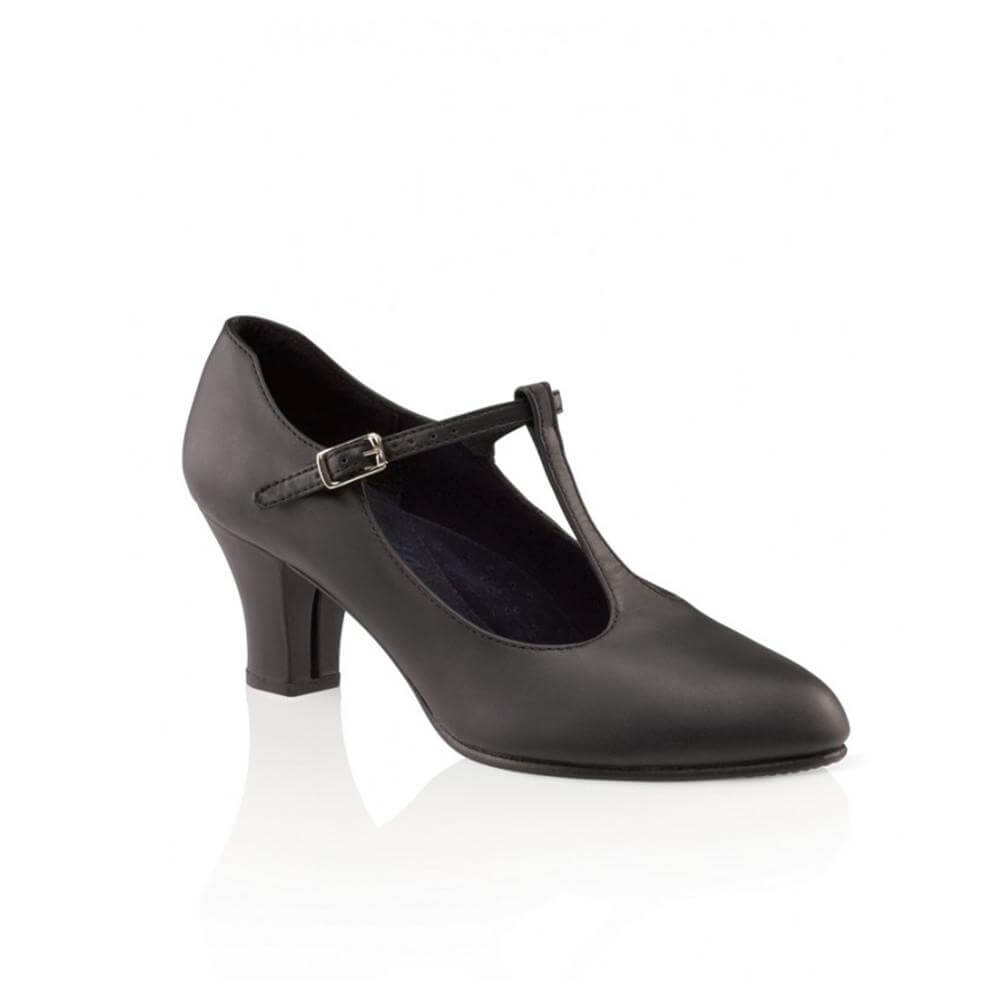 Capezio 750 Black Character T Strap Shoes