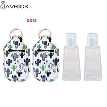 Hand Sanitizer Keychain Holder Travel Bottle Refillable Containers 30ml Flip Cap Reusable Bottles with Keychain Carrier