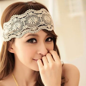 Women Hair Accessories Lace Headband Retro Hair Band Wide Headwraps Accessories