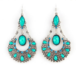 Ethnic Style Beads Alloy Dangle Earrings Long Animated Earrings