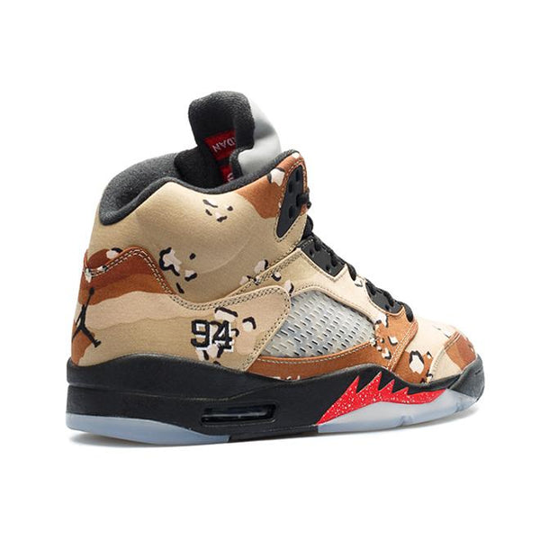 Supreme x Air Jordan 5 Retro 'Desert Camo'