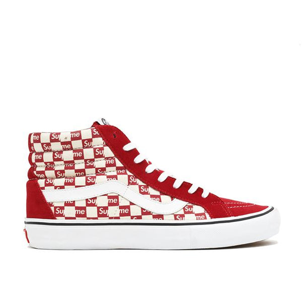 Supreme x Sk8-Hi Pro 'Checkered Red'