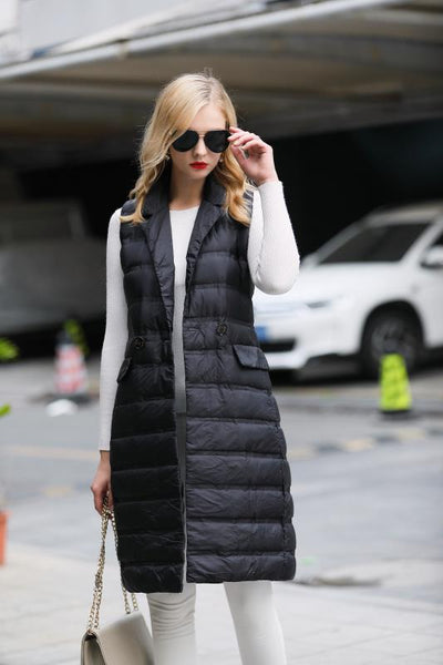 886928-820 Women's Long Down Vest