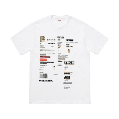 Supreme Cutouts Tee White