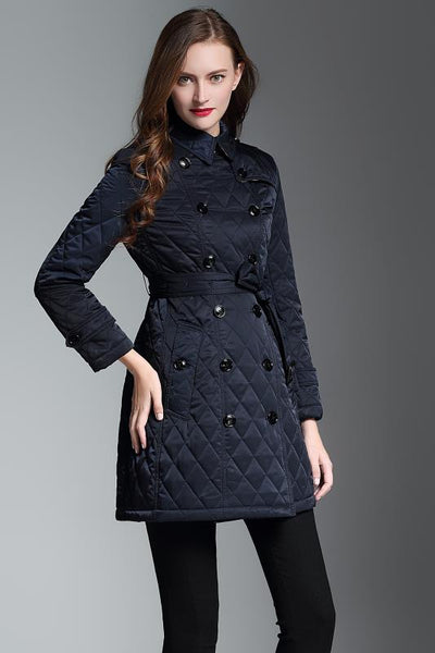 886920-450 Double-breasted Mid-length Cotton Coat