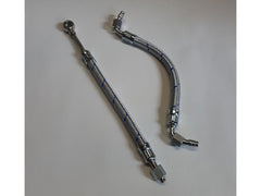 Porsche 356 A,B,C,912 Engine inlet and outlet oil line Blue Braided 616.07.818