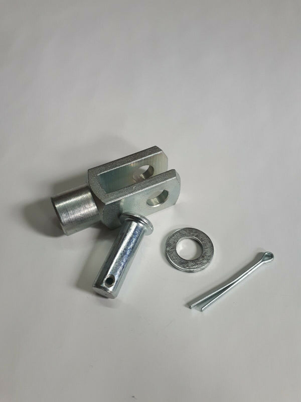 Clevis with pin fork end M6 Steel Zinc