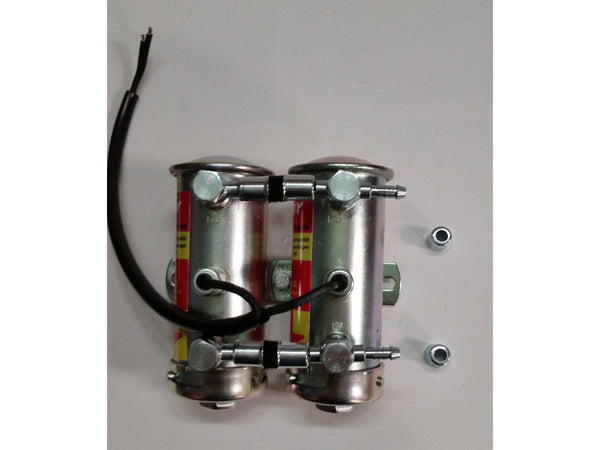 Bendix style fuel pump, M10x1 Banjos and hollow bolts,Fuel hose, chrome end caps