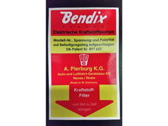 Bendix fuel pump sticker High Quality