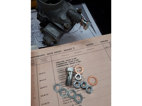 Porsche 356 Pre-A Solex 32 PBJ Carburetor connecting kit