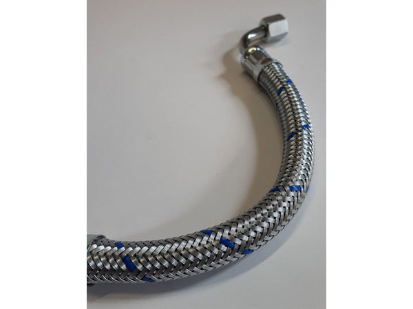 Porsche 356 Oil line-Outlet Period correct Blue chrome-plated braid 539.07.826