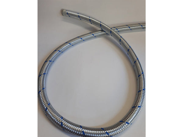 Porsche 356 Carrera Quad cam 15mm oil line period blue braided