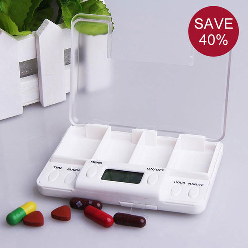 4 Alarms Electronic Pill Box Organizer, Daily Reminder