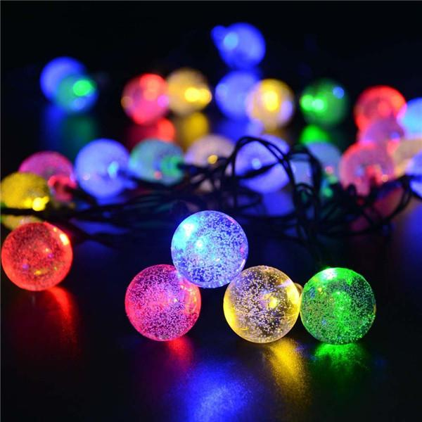30 LED Crystal Ball Solar Powered Garden Lights for Outdoor Decoration