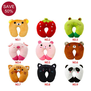 9 Styles Cartoon Animal U-shaped Travel Pillow