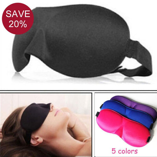 Travel Sleep Kit - 3D Travel Eye Mask for Sleeping