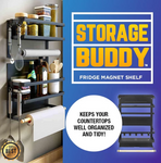 Multi-purpose 4 Tier Fridge Magnet Shelf