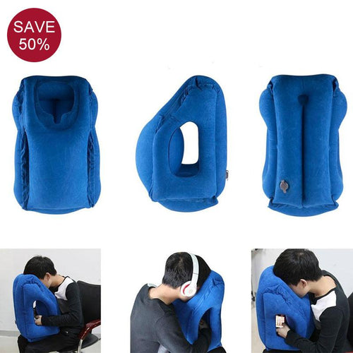 Air Soft Cushion Inflatable Aeroplane Travel Pillow - Portable, Foldable, Body Back Support