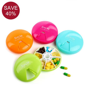 Cute Weekly Medicine Organizer Pill Box AM/PM