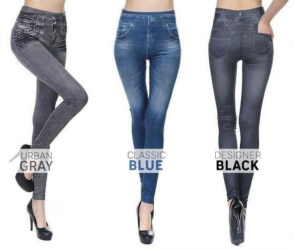 Comfortable Jean Leggings - 60% OFF