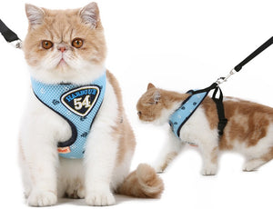 Pet Dog Cat Harness Vest Leash Suit